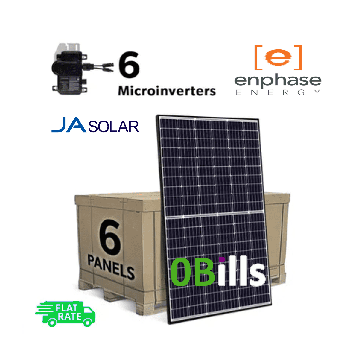 2kW DIY Solar Panel Systems Kit with Enphase IQ7A Microinverters