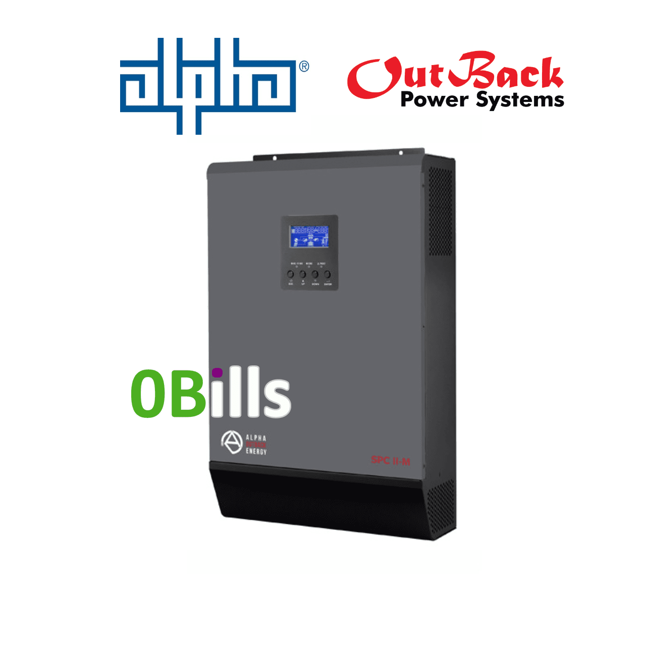 Alpha Outback SPCII-M 5000-48 All In One 5kW Off-Grid Solar Inverter