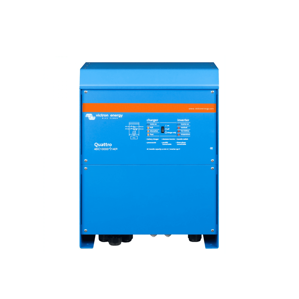 Victron Quattro 48-8000-110-100-100 8kW (8000W) 48V Battery Inverter Charge