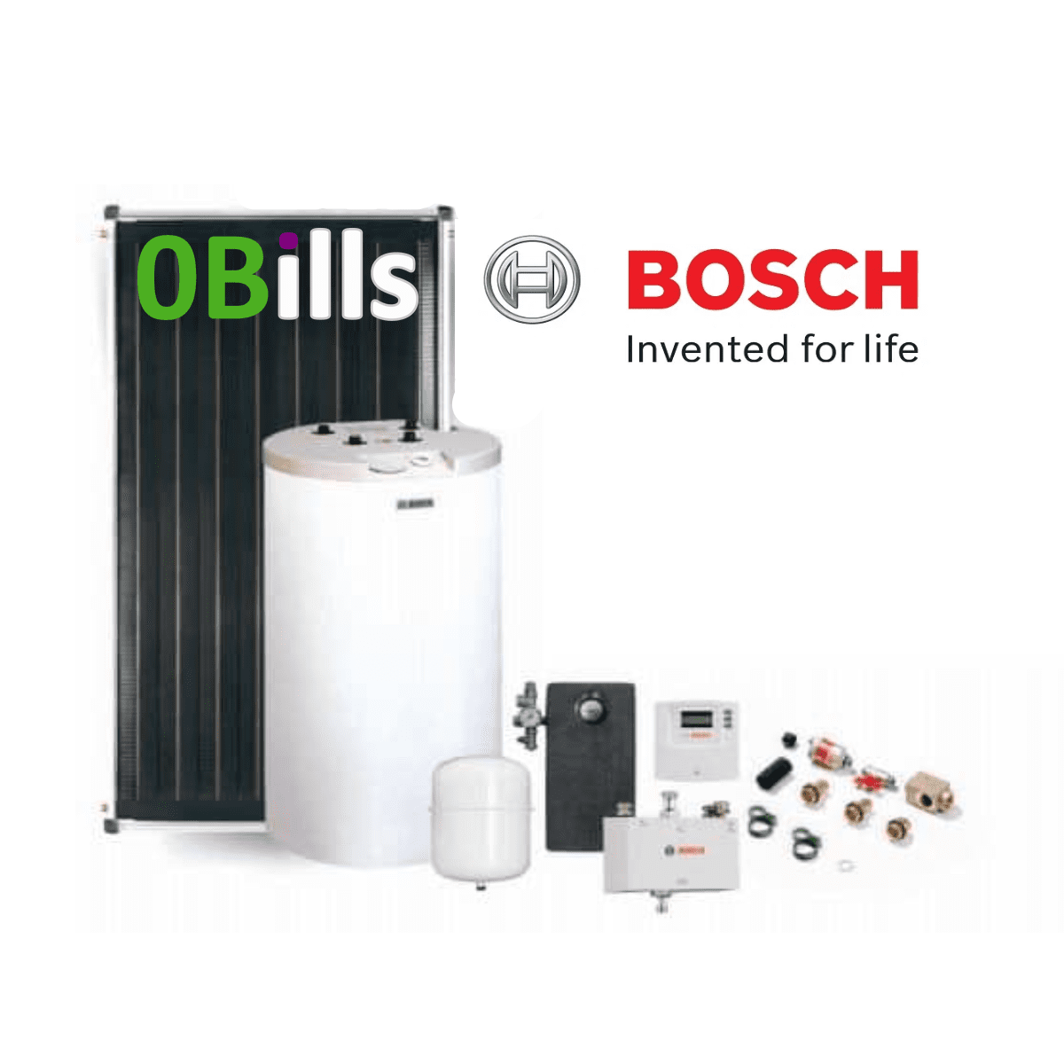 Solar Thermal Package BOSCH Comfort with 120 l cylinder