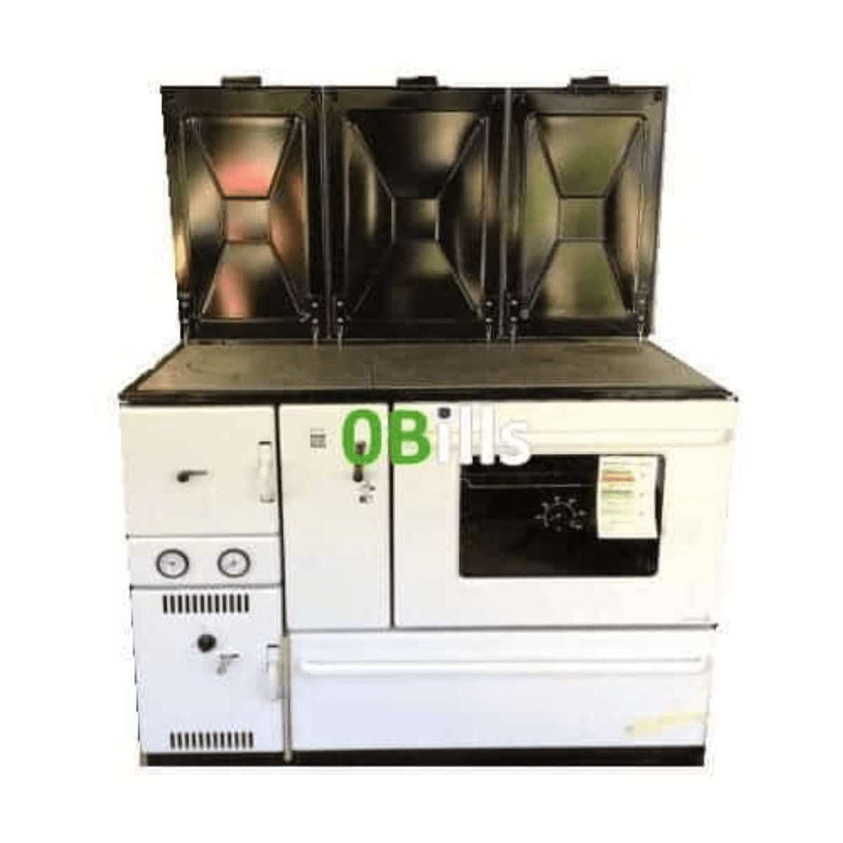 Wamsler 1100 Series (K178) central heating cooker stove WHITE (Right)