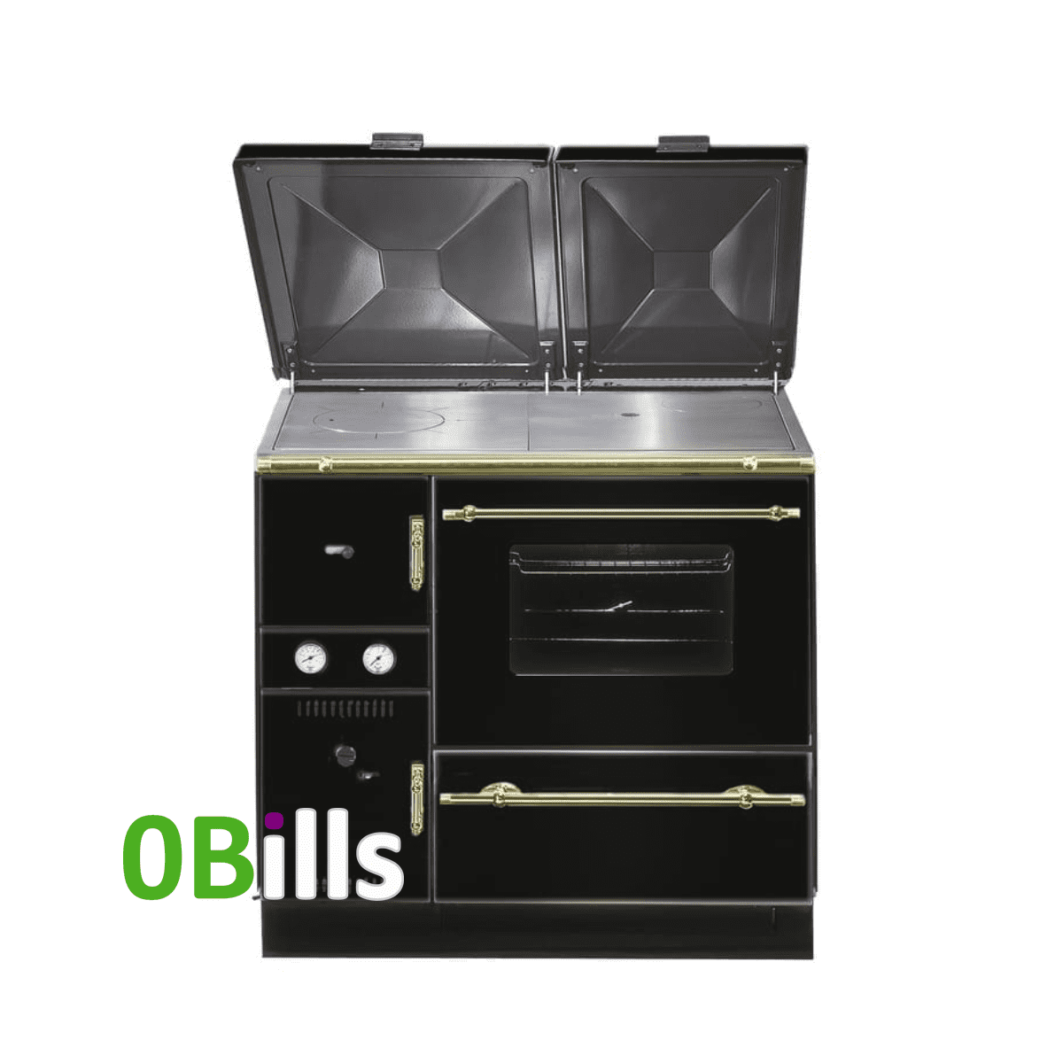 Wamsler 900 Series (K148) central heating cooker stove BLACK (Right)