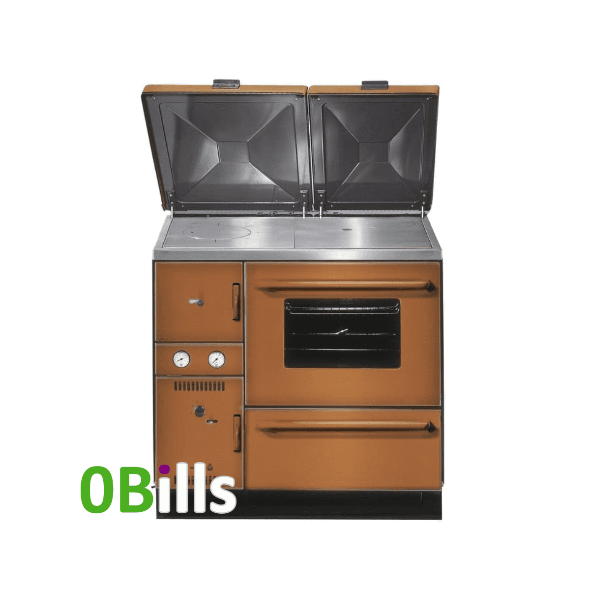 Wamsler 900 Series (K148) central heating cooker stove Sienna Brown (Right)